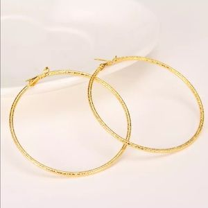 COMING SOON! Large Yellow Gold Filled Hoops